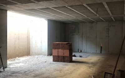 VIVIENDA ISABEL DE VILLENA   Sótano y hueco del ascensor